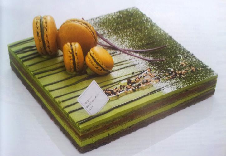 Gâteau Opéra chocolat - thé matcha de Sadaharu Aoki